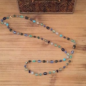 Blue beaded knecklace